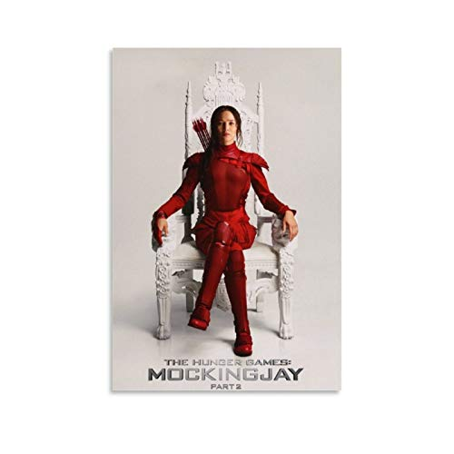Preisvergleich Produktbild XYDD Poster,  Motiv: Die Tribute von Panem Mockingjay Teil 2,  Jennifer Lawrence,  Leinwand-Kunst-Poster und Wandkunstdruck,  modernes Familienschlafzimmer,  60 x 90 cm