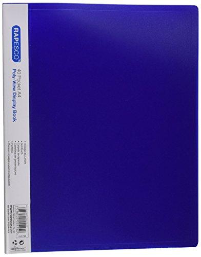 Rapesco Documentos - Carpeta de presentación A4con 40 bolsillos, color azul