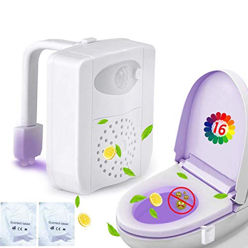 Toilet Lights Led Toilet Night Lights Motion Sensor Light for Toilet with Aromatherapy, Toilet Bowl Light for Kids, Boys, Man, Bathroom, Washroom