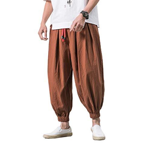 Herren Loem Beam Füße Harem Hosen Mode Tapered Streetwear Solid Color Outdoor Casual Plus Size Kordelzug Hose XXL