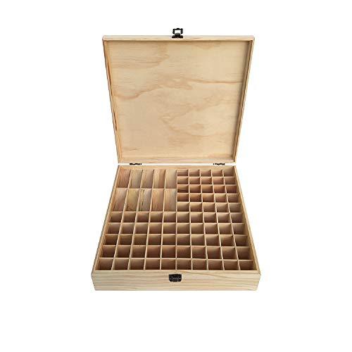 85 Grids etherische olie doos houten etherische olie opslag case duurzame etherische oliën houder organisator nagellak opslag organisator doos