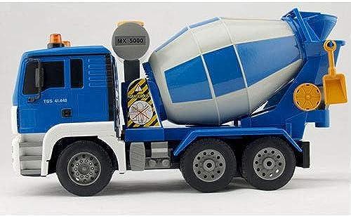 Tletiy Elektrische fernbedienung engineering fürzeug wiederaufladbare 2,4 ghz reibungsunterstützte betonmischer push go bau spielzeugautos mit lichter sounds für jungen mädchen kinder pr ntieren ge