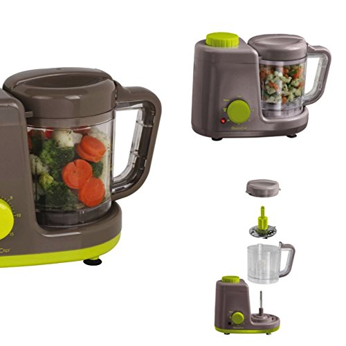 4-in-1 mixer stoomkoker warmhoudfunctie bereiding voor babyvoeding demper (stoompan, timer, blender smoothie maker, baby keukenmachine)