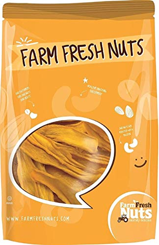Natural Dried Mango Slices (2 Lbs.) - No Added Sugar or Preservatives - All Natural - Delicious Tangy Sweetness - Compares to Organic Mango - Super Healthy - Farm Fresh Nuts Brand