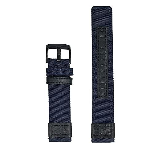 Correas De Reloj De Nylon 20 mm 22 mm 24 mm Correa de Cuero de Nylon Reloj de Reloj de Reloj de Reloj Banda de Pulsera Correa Reloj (Band Color : Blue)