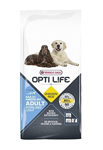 VERSELE-LAGA - Opti Life Adult Light Medium & Maxi - Croquettes pour Chiens en Surpoids Grands et Moyens - 12,5kg