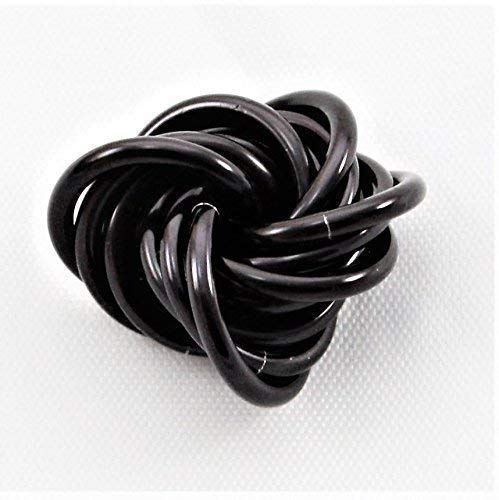 Möbii Onyx: Small Mobius Hand Fidget Toy, Shiny Black Stress Ball for Restless Hands, Office Toy