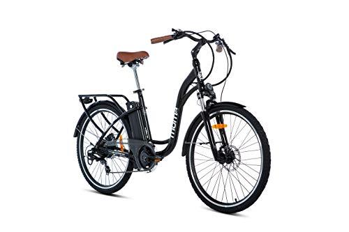 Moma Bikes Bicicleta Electrica E26.2 Aluminio, SHIMANO 7V, Frenos de disco hidráulicos Batería Litio 36V 16Ah