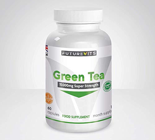 Green Tea 15000mg High Strength No Fillers Made in UK Futurevits 2 Month Supply