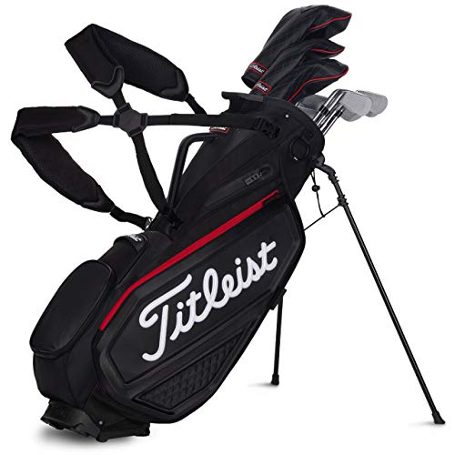 Titleist Premium Stand Golf Bag Black/Black/Red
