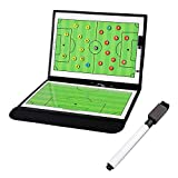 AZXAZ Coaches Taktiktafel Faltbar Fußball Coaching Board Fußball Strategie Brett Mit Write-Wipe 2-in-1 Stift