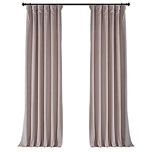 HPD Half Price Drapes VPYC-161207-84 Plush Velvet Curtain (1 Panel), 50 X 84, Ballet Pink