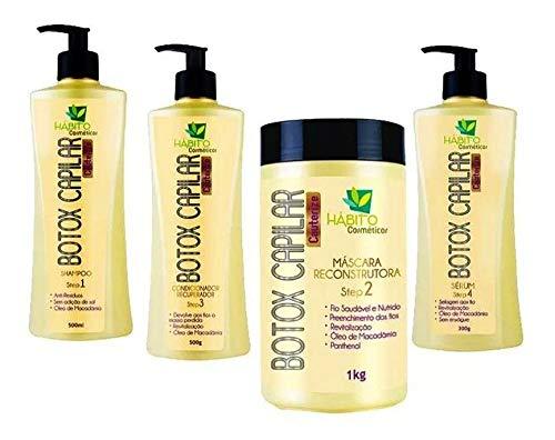 Kit Botox Capilar Profissional Hábito Cosméticos 4 Produtos