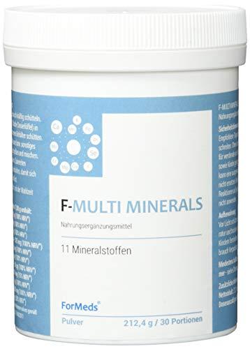Formeds F-MULTI MINERALS, 11 Mineralstoffen: Chrom, Zink, Iod, Magnesium, Mangan, Kupfer, Molybdän, Kalium, Selen, Calcium, Eisen, 30 Portionen, 212.4 g