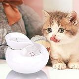 CWYSJ 1.5L Gato del Animal doméstico Fuente de Agua de Agua, pequeña Hoja automático del Animal doméstico del Agua filtrada, Ultra silencioso Salud e Higiene Fuente para Perros y Gatos