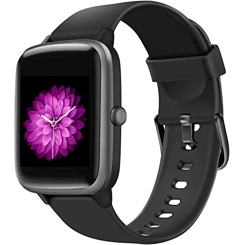 ZXQZ Relojes de Pulsera Reloj Inteligente, Rastreador de Ejercicios a Prueba de Agua con Pantalla Táctil 5ATM con Contador de Calorías, Reloj de Fitness de Salud Femenina Watches