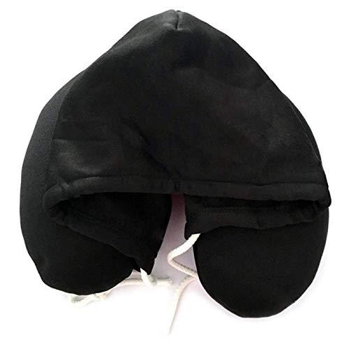JONJUMP Almohada de viaje con capucha Almohada de espuma de partícula de cuello de almohada de viaje Almohada de viaje