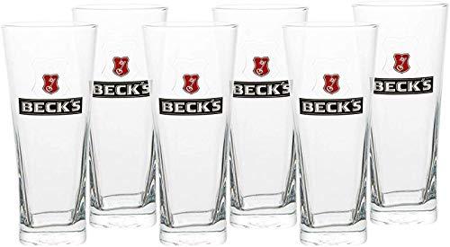 Beck'S Henry Bierglas [6er Set] - 0,5 Liter - Original Becks Bier Gläser für Gastronomie & Sammler - 50cl Bier Glas - Spülmaschinenfest - NEU