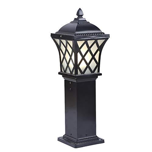 ZXC vloerlamp buiten blik op de tuin gegoten aluminium waterdicht vloerlamp Villa hof verlichting straatlantaarn, 2 kleuren optioneel