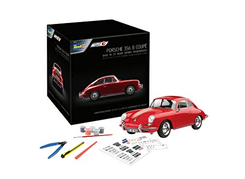 Revell 1029 Calendario de Adviento Dream Cars Porsche 356 B Coupé con Easy-Click-System en 24 días para un modelo de coche de fabricación propia, rojo