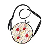 Alan Connie Cute Ladybugs Herbs Bolso bandolera redondo Circle Purse Messenger Bag