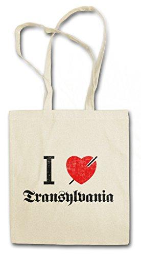Urban Backwoods I Love Transylvania Hipster Bag Beutel Stofftasche Einkaufstasche