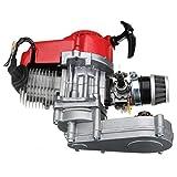 Moto Motor Rojo Motor 49cc 2 tiempos comienzo del tirón con la transmisión en busca Mini Moto Dirt Bike Ciclo de gasolina kit de motor de gas