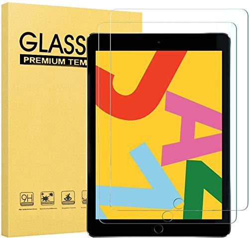 【2枚入り】iPad 9.7 ガラスフィルム ( 2018 / 2017 新型 ) Air2 / Air/ipad pro 9.7インチ 強化ガラス保護フィルム目の疲れ軽減 高透過率 日本製旭硝子素材 9H硬度 気泡ゼロ 飛散防止 指紋防止 iPad Air2/Air/iPad 9.7/iPad第5/6世代専用