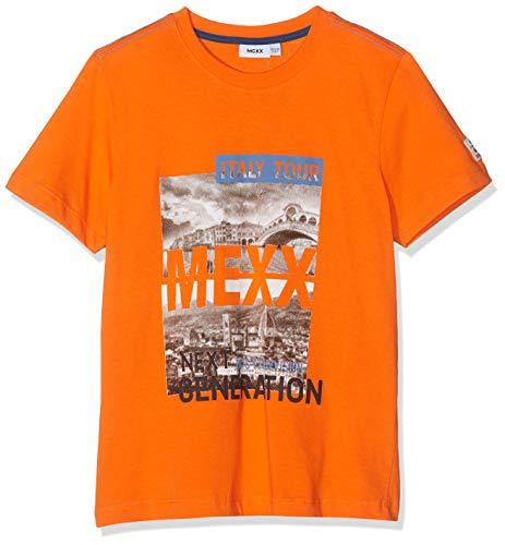 Mexx Jungen T Shirt, Orange (Dragon Fire 161460), 140 (Herstellergröße: 134 140)