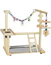 Bird Speeltuin Toy Parrots Play Stand Play Gym Parkiet Box Ladder Swing Vogel van het Huisdier Chew Toy met Feeder Cup