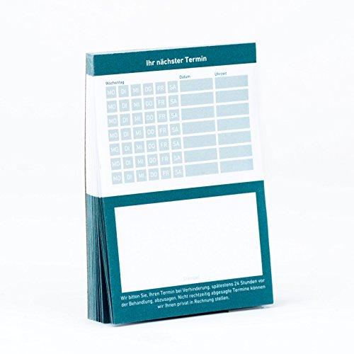 10 x Terminblock Terminblöcke Terminzettel nächster Termin für Ärzte, Kosmetiker, Frisör & Co 10 x 50 Blatt (blau)