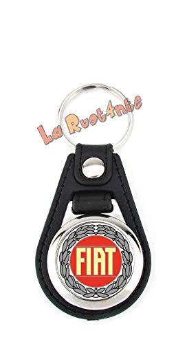 La Ruotante 1 Portachiavi Fiat (Logo Rosso Corona d' Alloro)