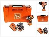 FEIN ASCD 18-300 W2 - Atornillador de impacto inalámbrico (18 V, 290 Nm, sin escobillas, 2 baterías de 5,2 Ah, cargador y maletín)