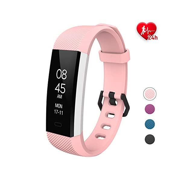 Fitpolo Pulsera Actividad, Impermeable IP68 Fitness Tracker Mujeres con Pulsómetro, Reloj Inteligente para Deporte… 2