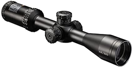 Bushnell AR Optics, Drop Zone BDC Reticle Riflescope with Target Turrets and Side Parallax, Matte Black, 4.5-18x/40mm
