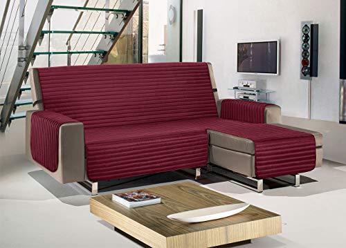 BIANCHERIAWEB Copridivano con Penisola Trapuntato Modello Best Colore Bordeaux 240 cm Bordeaux