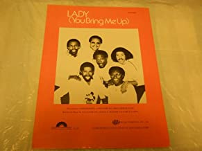 LADY YOU BRING ME UP COMMODORES 1981 SHEET MUSIC FOLDER 580