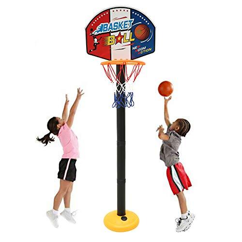 willkey Basketballkorb Kinde Einstellbare Basketballständer Set Indoor und Outdoor Fun Ball Spielzeug Aktivitäten für 3-7 Jahre Spiel ältere Kinder Sport