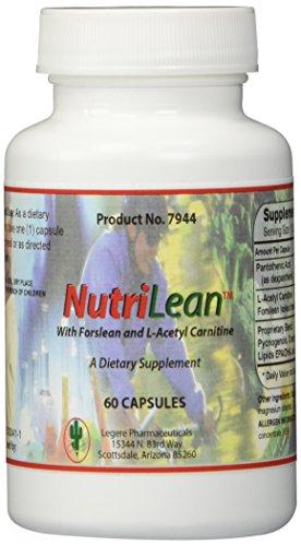 NUTRILEAN ™ with Coleus forskohlii (forskolin) & Acetyl L-carnitine [60 Capsules] - Pharmaceutical Grade