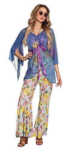 Boland 83523 - Erwachsenenkostüm Flower Woman mit Hose, Shirt und Halskette, Größe 40 / 42