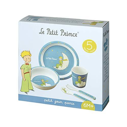 Petit Jour Paris - PP701BP - Coffret vaisselle 5 pièces bleu Le Petit Prince - Favorise l'autonomie
