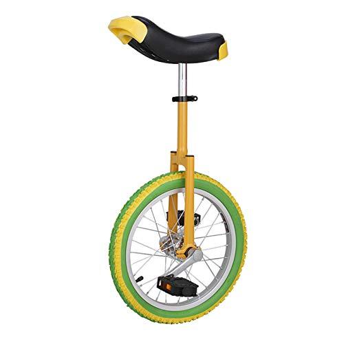 AHAI YU Unicycle para niños de 12 años/niñas/niños de cumpleaños Presente, Balance Amarillo Ciclismo con llanta de aleación para Divertidos Racing de Grupo, Carga 65kg (Size : 20INCH WHELL)