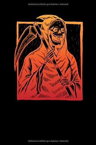 Notizbuch: Todesschrecken des untoten Sensenmann Skeletts Notizbuch DIN A5 120 Seiten für Notizen, Zeichnungen, Formeln | Organizer Schreibheft Planer Tagebuch