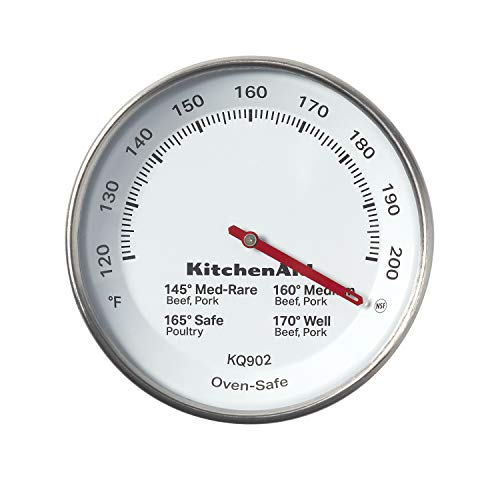 KitchenAid Leavein Meat Thermometer TEMPERATURE RANGE: 120°F to 200°F Black