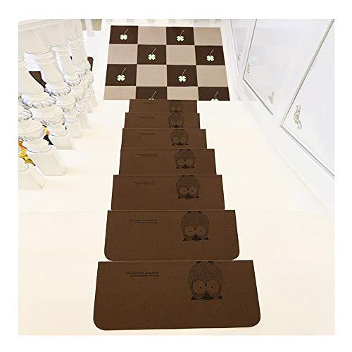L/ärmreduzierung YXUD Teppich-Treppenstufen selbstklebend rutschfest Kaktus Muster Rechteckiger Treppenteppich f/ür Innen Waschbar ,Beige,6pieces 75 x 20 cm wiederverwendbar