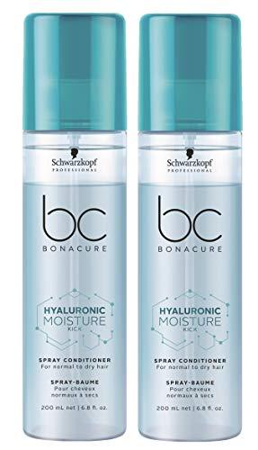 2er Moisture Kick Spray Conditioner Hyaluronic Bonacure Schwarzkopf für trockenes Haar 200 ml