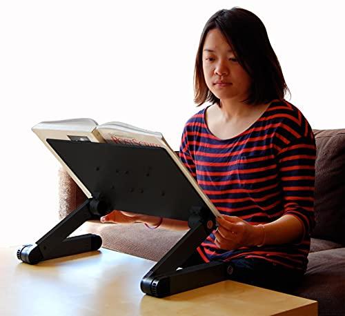 Regolabile in altezza e angolo di lettura leggio da del libro, tablet, supporto ergonomico, porta documenti. Perfetto per libri di testo. Alluminio, nero