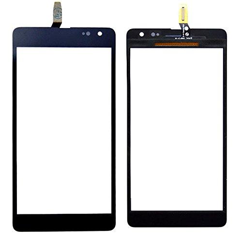 MovTEK Kompatibel mit Nokia Microsoft Lumia 535 CT2C1607FPC-A1-E Display Touchscreen Digitizer Glas(Ohne LCD) Ersatzteile + Klebeband & Werkzeuge (schwarz)