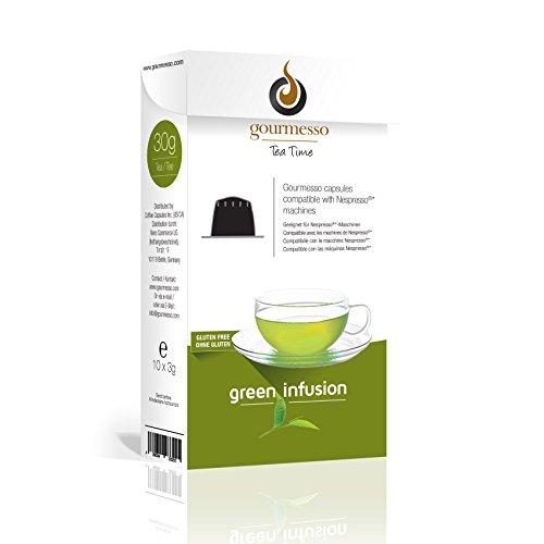 Gourmesso Green Infusion – 50 Nespresso kompatible Teekapseln