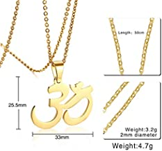 "GVDHB Yoga Om Ohm Pendant Necklaces Women Men Buddhism Jewlery 20"" Chain"